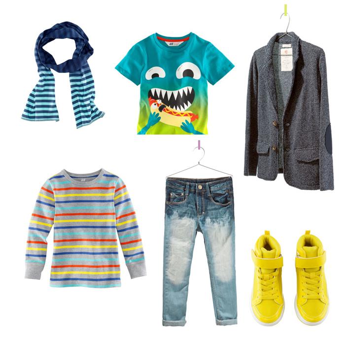 TSHIRTS-echarpe-baskets-HM-jeans-blazer-ZARA